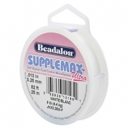 Hilo para enfilar Beadalon Supplemax Ultra 0.25mm 25 metros blanco