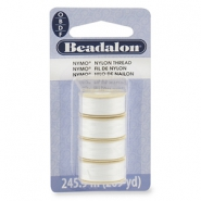 Hilo de nylon Beadalon Nymo 0.3mm 4-pack blanco
