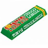 Barra de chocolate Tony's Chocolonely con leche y avellana 47 gram n/a