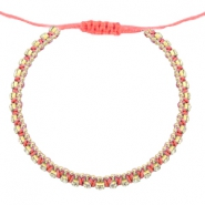 Trendy armbanden strass rosa coral-cristal