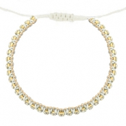 Trendy armbanden strass blanco off-cristal