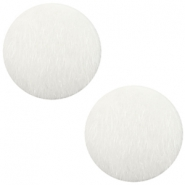 Cabuchones faux fur 20mm blanco