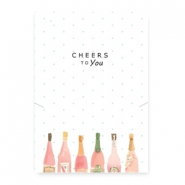 "Tarjetas de joyería ""cheers to you"" blanco-multicolor"