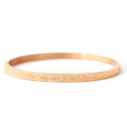 "Pulseras Acero Inox ""YOU ARE ONE IN A MILLION"" oro rosado"