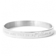 "Pulseras Acero Inox ""YOU ARE ONE IN A MILLION"" plata"