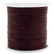 Hilo macramé 0.5mm chocolate marrón