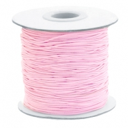 Hilo elástico en color 1mm rosa claro