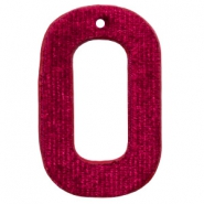 Colgantes Velvet rectangular 43x27mm rojo port