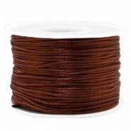 Hilo macramé 1.5mm satín chocolate marrón