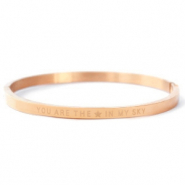 "Pulseras acero inox ""YOU ARE MY STAR IN THE SKY"" Oro rosado"