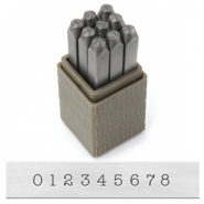 ImpressArt Basic Typewriter set de sellos con número 3mm Gris