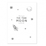 Tarjetas para joyería 'I love you to the moon and back' Blanco