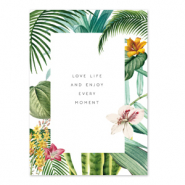 Tarjetas para joyería 'love life and enjoy every moment' Blanco-verde
