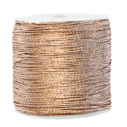 Hilo macramé metálico 0.8mm Crema marfil taupe