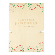"Tarjetas para joyería de madera ""jingle bells"" Natural (color natural de la madera)"