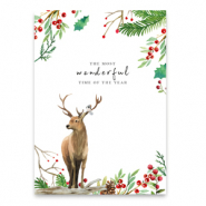"Tarjetas para joyería ""the most wonderful time of the year"" Blanco-marrón"