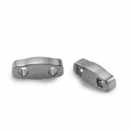 Abalorios Miyuki cuarto de tila 5x1.2mm Plated nickel anthracite QTL-190