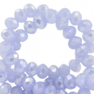 Abalorios faceteados disco 3x2 mm Azul chambray-cubierta pearl shine
