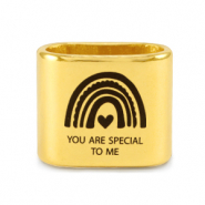 "Correderas metálica DQ ""YOU ARE SPECIAL TO ME"" Mix & Match Dorado (sin níquel)"