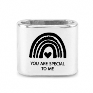 "Correderas metálica DQ ""YOU ARE SPECIAL TO ME"" Mix & Match Plata vieja (sin níquel)"