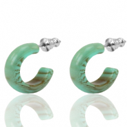 Pendientes criolla Polaris Elements 18mm Verde ceniza