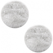 Cabochon Polaris Perseo mate crushed ice 12mm blanco gris