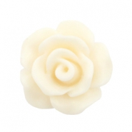 Abalorios rosa 10mm mate blanco beige