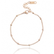 Stainless steel armbandje ball Rosegold
