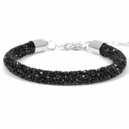 Pulseras Crystal Diamond 7mm negro Jet