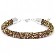 Pulseras Crystal Diamond 8mm greige-bronce