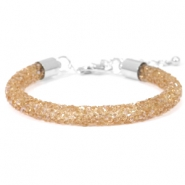 Pulseras Crystal Diamond 7mm topacio ahumado