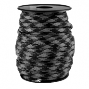 Cordón trendy Paracord 4mm negro-gris