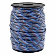 Cordón trendy Paracord 4mm gris-azul marrón