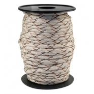 Cordón trendy Paracord 4mm beige-marrón