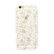 Funda de móvil para iPhone 5 lace transparente - blanco
