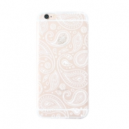 Funda de móvil Trendy para iPhone 7 paisley transparente-blanco