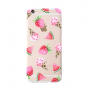 Funda de móvil Trendy para iPhone 6 Plus helado & fruta transparente-rosa verde