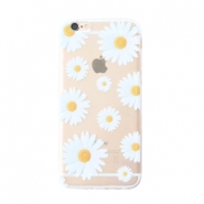 Funda de móvil Trendy para iPhone 5 margaritas transparente-blanco amarillo